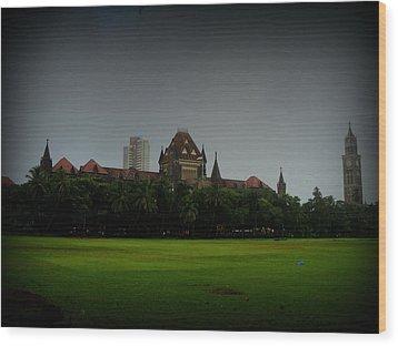 Wood Print featuring the photograph Bombay High Court by Salman Ravish