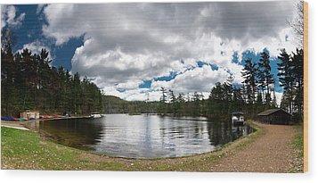Bon Echo Lagoon Panorama Wood Print by Cale Best