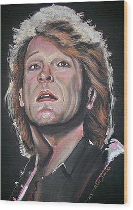 Wood Print featuring the pastel Bon Jovi by Peter Suhocke