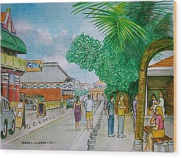 Bonaire Street Wood Print by Frank Hunter