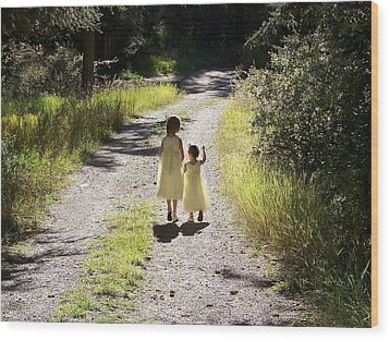 Wood Print featuring the photograph Bond Between Sisters by Sheri Keith