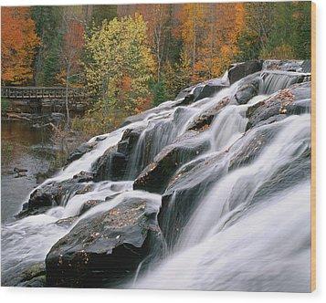 Bond Falls Upper Peninsula Michigan Wood Print