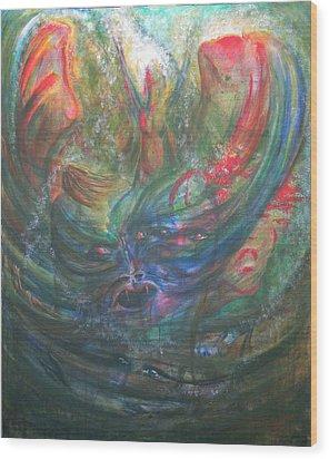 Bondage Broken Wood Print by Sheri Lauren Schmidt