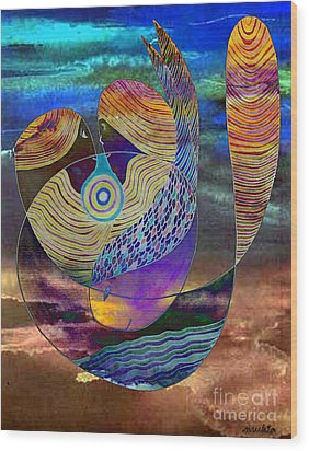 Wood Print featuring the painting Bonded In Harmony by Mukta Gupta