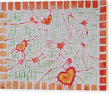 Bonds Of Love Wood Print by Sonali Gangane