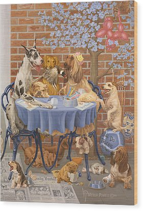 Bone Appetit Restaurant Wood Print by Victor Powell