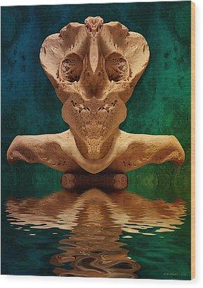 Boneface 7 Wood Print by WB Johnston