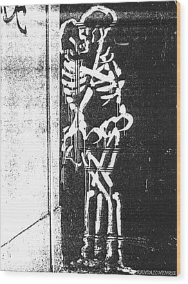 Wood Print featuring the digital art Bones by Randall Henrie