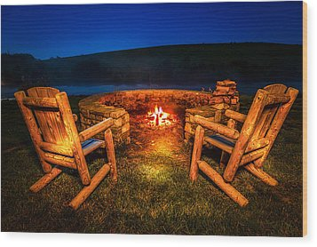 Bonfire Wood Print