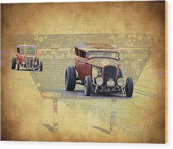 Bonneville Rodz Wood Print by Steve McKinzie