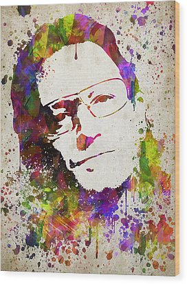 Bono In Color Wood Print