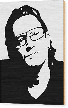 Bono Wood Print by Monofaces