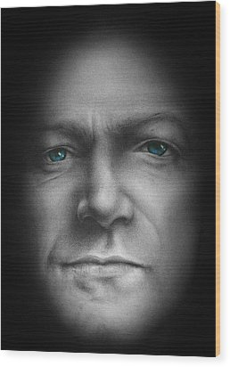 Bono - We Live In One World Wood Print by David Oakley