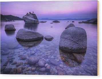Bonsai Rock Wood Print by Sean Foster