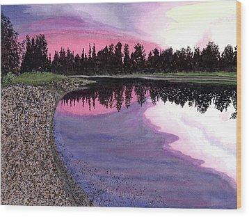Bonsette's Sunset Wood Print by Joel Deutsch