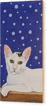 Wood Print featuring the painting Booboo by Alison Caltrider