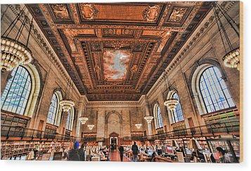 Book Heaven Wood Print by Tony Ambrosio