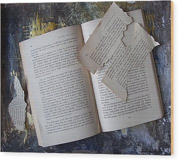 Book Wood Print by Mary Adam
