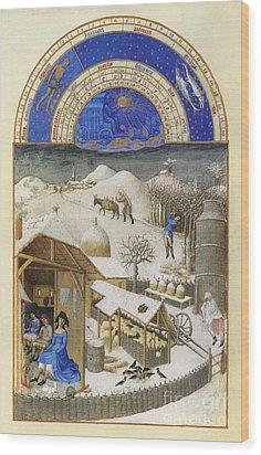 Book Of Hours: February Wood Print by Granger