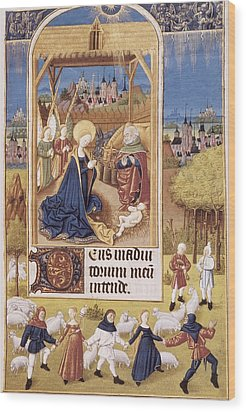 Book Of Hours Of Alonso Fernández Wood Print by Everett