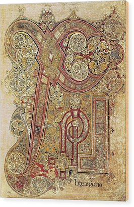 Book Of Kells. 8th-9th C. Chapter Wood Print by Everett