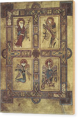 Book Of Kells. 8th-9th C. Fol.27v Wood Print by Everett