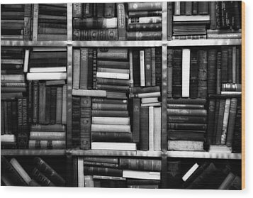 Wood Print featuring the photograph Books by Takeshi Okada