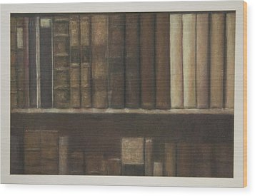 Bookshelf Wood Print by Paez  Antonio