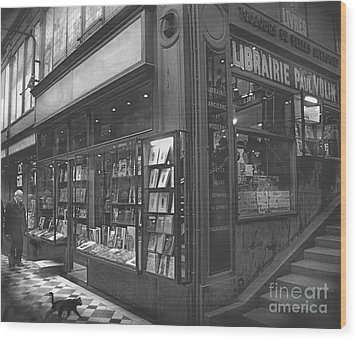 Bookstore Wood Print by Louise Fahy