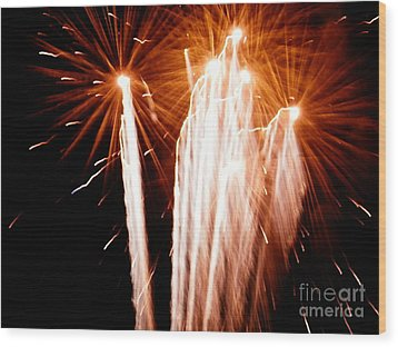 Wood Print featuring the digital art Boom Boom by Angelia Hodges Clay