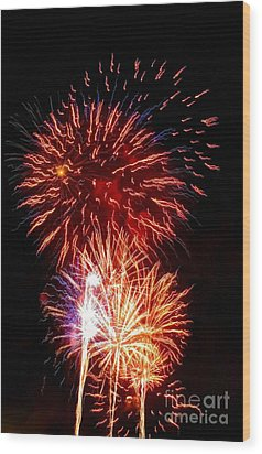 Boom Boom Out Go The Lights Wood Print by Kip Krause