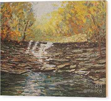 Boone County In Fall Wood Print by Terri Maddin-Miller