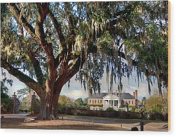 Boone Hall Mansion Wood Print