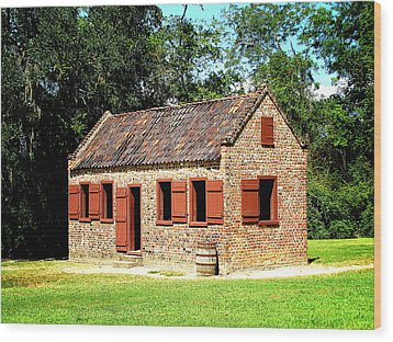 Wood Print featuring the photograph Boone Hall Plantation Slave Quarters by Greg Simmons