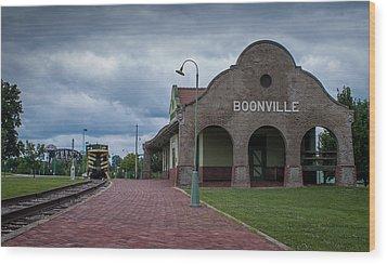 Boonville Depot Wood Print by Wayne Meyer