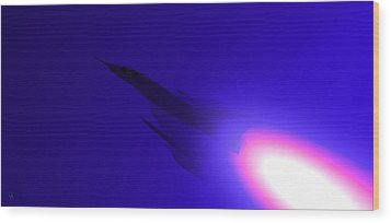Boosted - Mirage - Blue Wood Print by Marcello Cicchini