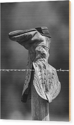 Boot Post Wood Print