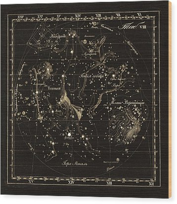 Bootes Constellations, 1829 Wood Print by Science Photo Library