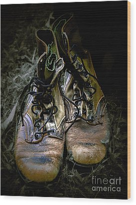 Boots That Grunt  Wood Print by Steven Digman