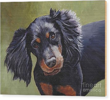 Boozer The Gordon Setter Wood Print by Charlotte Yealey