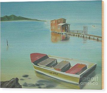 Boqueron Beach Wood Print by Angela Melendez