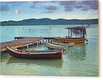 Wood Print featuring the photograph Boqueron Pier by Ricardo J Ruiz de Porras