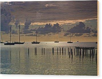 Wood Print featuring the photograph Boqueron Sunset by Ricardo J Ruiz de Porras