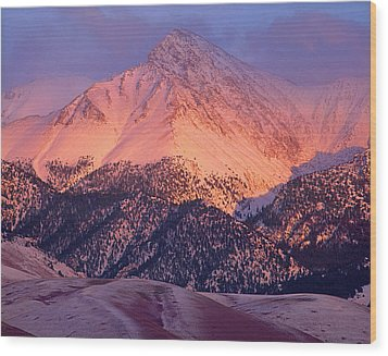 Borah Peak  Wood Print