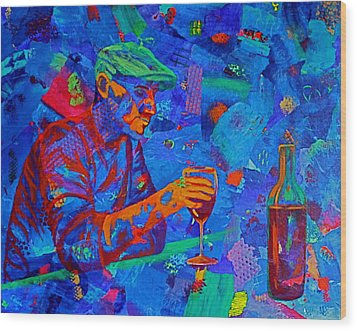 Wood Print featuring the painting Bordeaux by Nancy Jolley
