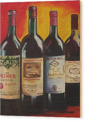 Wood Print featuring the painting Bordeaux by Sheri  Chakamian
