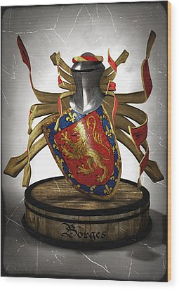 Borges Family Coat Of Arms Wood Print by Frederico Borges
