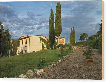 Wood Print featuring the photograph Borgo Bottaia by Francesco Emanuele Carucci