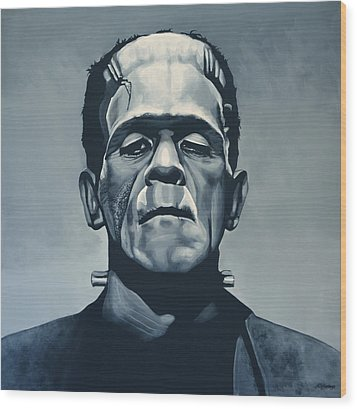 Boris Karloff As Frankenstein  Wood Print