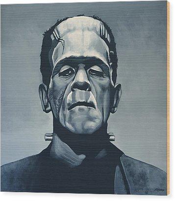 Boris Karloff As Frankenstein  Wood Print by Paul Meijering